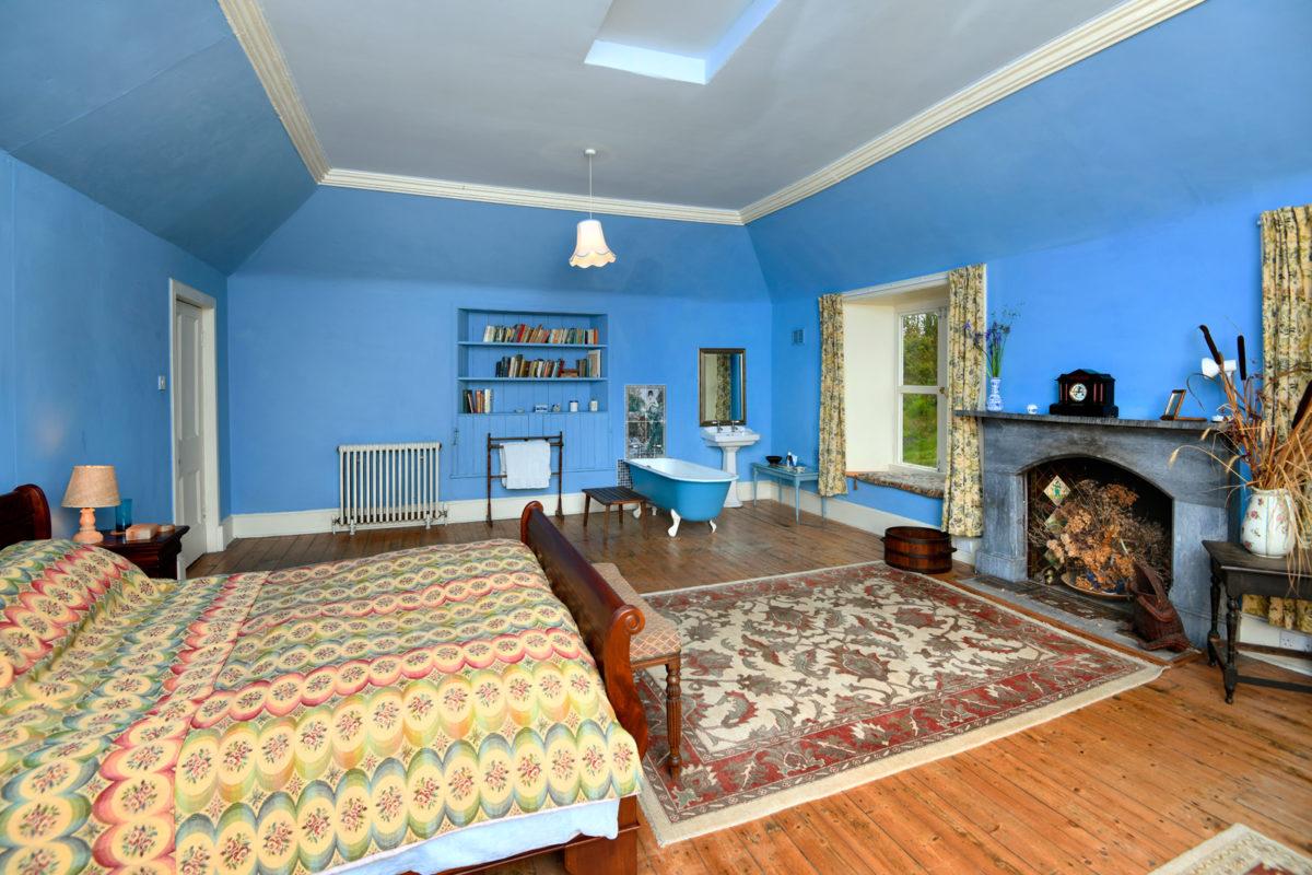 auchencairn house blue garden room